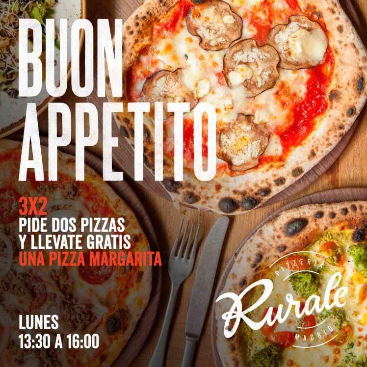 3x2 pizzeria rurale pizzas promociones